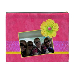 Pink Lemonade Xl Cosmetic Bag By Klh   Cosmetic Bag (xl)   Le5ilpy2evtm   Www Artscow Com Back