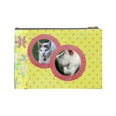 Lazy Days Large Cosmetic Case 1 By Joan T   Cosmetic Bag (large)   Esof841zexul   Www Artscow Com Back