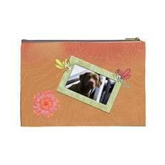 Lazy Days Large Cosmetic Case 2 By Joan T   Cosmetic Bag (large)   Pquah6arbta6   Www Artscow Com Back