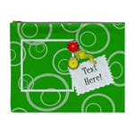 Green Circles Custom Cosmetic Bag (XL)