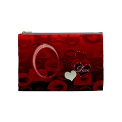I Heart You Red Love Medium Cosmetic Bag By Ellan   Cosmetic Bag (medium)   79gtzbr6xeah   Www Artscow Com Front