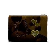 I Heart You Gold Love Medium Cosmetic Bag By Ellan   Cosmetic Bag (medium)   9qmmtqjxfy8z   Www Artscow Com Back