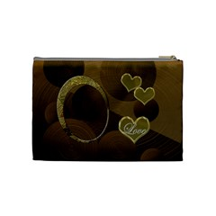 I Heart You Gold Love2 Medium Cosmetic Bag By Ellan   Cosmetic Bag (medium)   8nh5ozuiow8x   Www Artscow Com Back