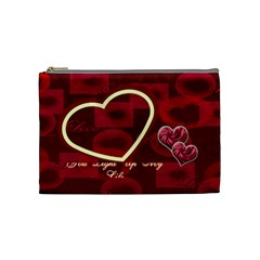 You Light Up My Life Love Medium Cosmetic Bag By Ellan   Cosmetic Bag (medium)   Pcbg78sacq5j   Www Artscow Com Front