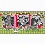 Merry Christmas Card - 4  x 8  Photo Cards