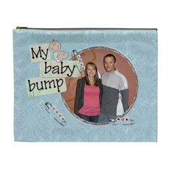 My Baby Bump Xl Cosmetic Bag By Lil    Cosmetic Bag (xl)   O8eql8kn6n4w   Www Artscow Com Front