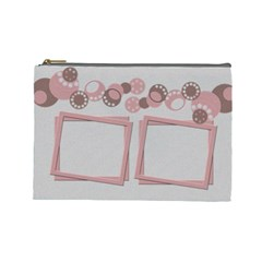 Pink And Brown   Cosmetic Bag (large)   By Carmensita   Cosmetic Bag (large)   N31quvapc11e   Www Artscow Com Front