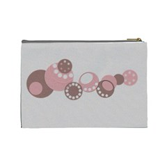 Pink And Brown   Cosmetic Bag (large)   By Carmensita   Cosmetic Bag (large)   N31quvapc11e   Www Artscow Com Back