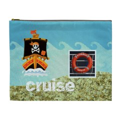 Pirate Pete Cruise Vacation Extra Large Cosmetic Bag By Catvinnat   Cosmetic Bag (xl)   Wip617pz4yyb   Www Artscow Com Front