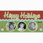 Happy holidays card 2 - 4  x 8  Photo Cards