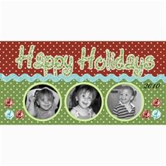 Happy Holidays Card 2 By Martha Meier   4  X 8  Photo Cards   Amkegtakii4d   Www Artscow Com 8 x4 Photo Card - 4