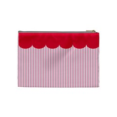 Strawberries Cosmetic Bag M 03 By Carol   Cosmetic Bag (medium)   E7v83hivomem   Www Artscow Com Back