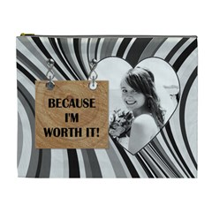 because I m Worth It!  Xl Cosmetic Bag By Lil    Cosmetic Bag (xl)   A5rb088f2trf   Www Artscow Com Front