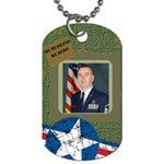 military husband 1 - Dog Tag (One Side)