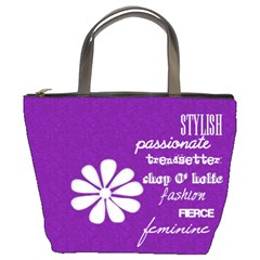 Girl s Purple Diva Bucket Bag By Purplekiss   Bucket Bag   Jh5bh0hg2u2y   Www Artscow Com Front