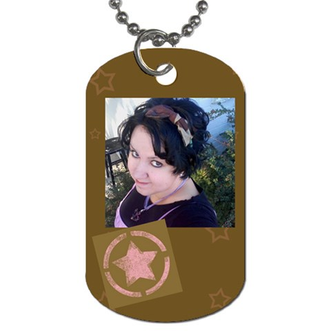 Pink Star By The American Homemaker   Dog Tag (one Side)   Iwmd4g60tsnj   Www Artscow Com Front