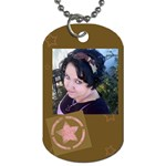 pink star - Dog Tag (One Side)