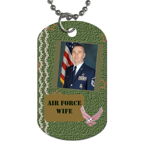 Air Force Wife 1 By The American Homemaker   Dog Tag (one Side)   F8rmvrymgtc1   Www Artscow Com Front