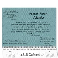Palmer  By Melissa Palmer Davis   Wall Calendar 11  X 8 5  (12 Months)   L3qm4t0a9ihb   Www Artscow Com Cover