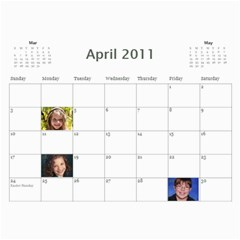 Palmer  By Melissa Palmer Davis   Wall Calendar 11  X 8 5  (12 Months)   L3qm4t0a9ihb   Www Artscow Com Apr 2011