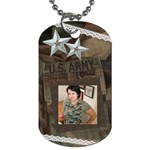 army and lace - Dog Tag (One Side)