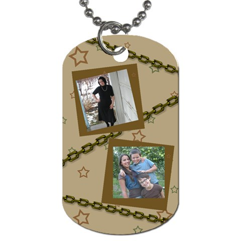 Stars And Chains By The American Homemaker   Dog Tag (one Side)   Tr0m541cjjz6   Www Artscow Com Front