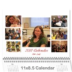 lab calender modified - Wall Calendar 11  x 8.5  (12-Months)