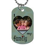 Love my Family 2 side tag blue - Dog Tag (Two Sides)