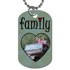 Love My Family 2 Side Tag Blue By Amanda Bunn   Dog Tag (two Sides)   Susww2aexp4w   Www Artscow Com Back