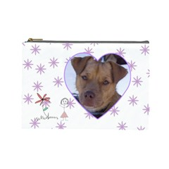 Doodles Large Cosmetic Case By Joan T   Cosmetic Bag (large)   86p1yy5pbuj5   Www Artscow Com Front
