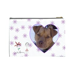 Doodles Large Cosmetic Case By Joan T   Cosmetic Bag (large)   86p1yy5pbuj5   Www Artscow Com Back