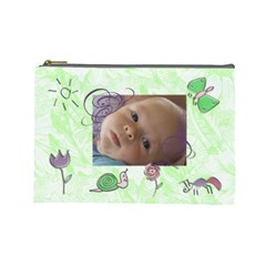 Doodles Large Cosmetic Case 2 By Joan T   Cosmetic Bag (large)   203umofh9wzv   Www Artscow Com Front