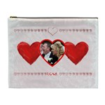 Faded Love heart Valentines cosmetic bag extra large - Cosmetic Bag (XL)