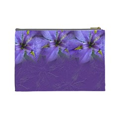 Iris Large Cosmetic Case 1 By Joan T   Cosmetic Bag (large)   5syttwv52um1   Www Artscow Com Back