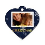 christmas - Dog Tag Heart (One Side)