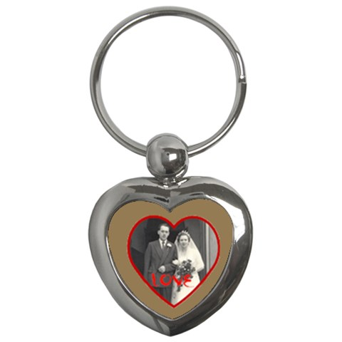 Red Love Heart Wedding Keyring By Catvinnat   Key Chain (heart)   X46ufueeec5v   Www Artscow Com Front