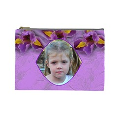 Iris Large Cosmetic Case 2 By Joan T   Cosmetic Bag (large)   Wcwgfmvvshfx   Www Artscow Com Front