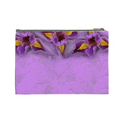 Iris Large Cosmetic Case 2 By Joan T   Cosmetic Bag (large)   Wcwgfmvvshfx   Www Artscow Com Back