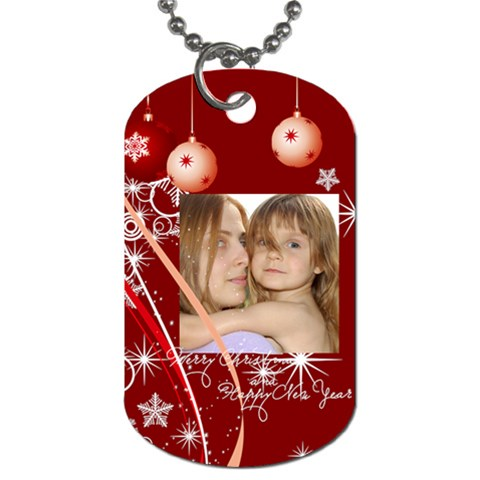 Christmas By Wood Johnson   Dog Tag (one Side)   994gns8i7gi5   Www Artscow Com Front