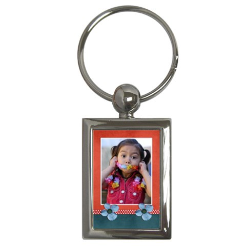 Key Chain (rectangle)    Flowers7 By Jennyl   Key Chain (rectangle)   Mtau2edhtitj   Www Artscow Com Front
