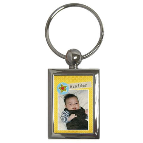 Key Chain (rectangle)    Braiden By Jennyl   Key Chain (rectangle)   Hy95bfg52ybh   Www Artscow Com Front
