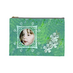 Frog Salad Large Cosmetic Case By Joan T   Cosmetic Bag (large)   Wnqu7i1i1872   Www Artscow Com Front