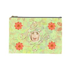 Melon Surprise Large Cosmetic Case 2 By Joan T   Cosmetic Bag (large)   Sya1gso51jla   Www Artscow Com Front