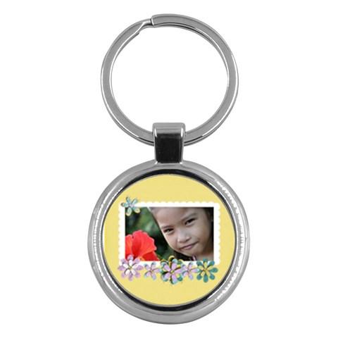 Key Chain (round)    Flowers3 By Jennyl   Key Chain (round)   Dvb0uwc4qcwo   Www Artscow Com Front