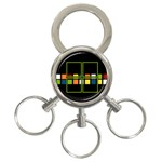 colors -  Key chain - 3-Ring Key Chain