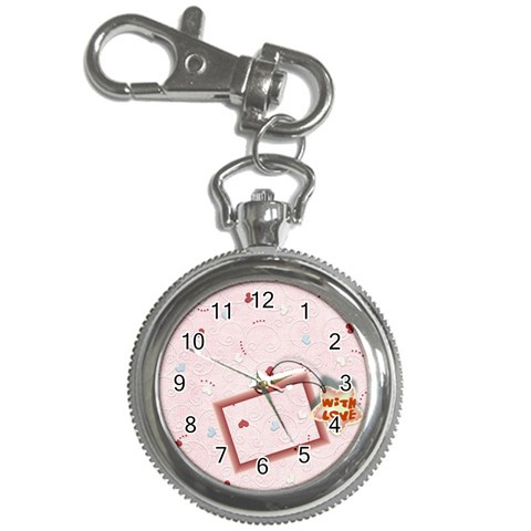 With Love   Pink By Daniela   Key Chain Watch   D05g8shpk4rb   Www Artscow Com Front