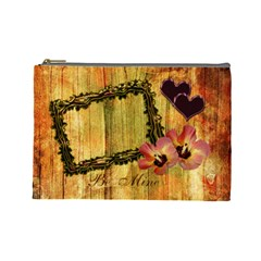 I Heart You Be Mine Autumn Large Cosmetic Bag By Ellan   Cosmetic Bag (large)   Ly4u1cq9fw4j   Www Artscow Com Front