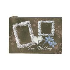 I Heart You Our Wedding Day Large Cosmetic Bag By Ellan   Cosmetic Bag (large)   Sd4wubl6uhpr   Www Artscow Com Front