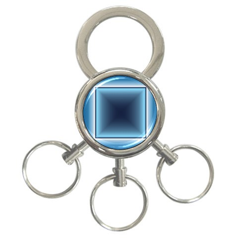 Blue Key Chain By Daniela   3 Ring Key Chain   7nge4zw04enm   Www Artscow Com Front