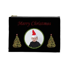 Merry Christmas Cosmetic Bag (l) By Jen   Cosmetic Bag (large)   7d6rrywb94it   Www Artscow Com Front